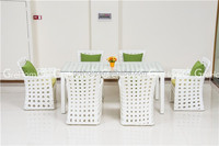 cheap dining room furniture rattan dining table and chair