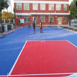 Easily assembled 2015 hot sell outdoor interlocking basketball flooring