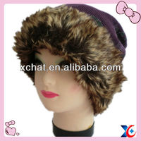 Warm bell shape new style colorful fur winter knitted hats