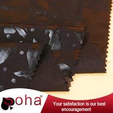 2016 SOHA rayon black with foil rayon dress fabric for wholesale dress