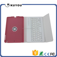 100% Brand New Leather Stand Case Cover With Wireles Bluetooth Keyboard For iPad Mini
