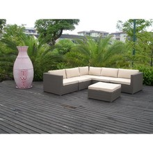 HC-J007 synthetic rattan outdoor curved sofa classic sofa