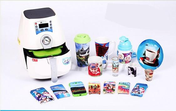 Купить Высокое Качество Мини 3D Сублимация Вакуумная Машина Давления Жары Принтер Жары Для Кружки и Телефон случае Печать ST-1520
