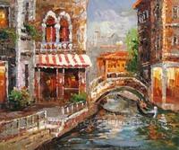 Handmade impressionist italy venice oil painting on canvas