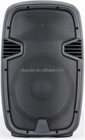 15 inch active speaker box with class AB amplifier