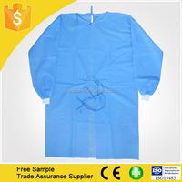 Best Seller Nonwoven PP Disposable Patient Coat/surgical clothing