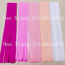 DIY hanging tissue paper mixed up color tassel garland for party decorations