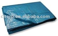 Blue PE Tarpaulin Folded into a Piece