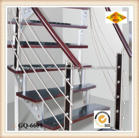 Barandillas de acero inoxidable para escalera de madera de la escalera interior barandas y - Accesorios de acero inoxidable para barandillas ...