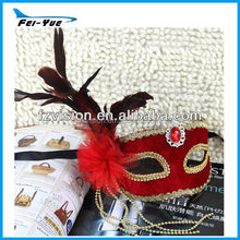 Luxury Handmade flower feather decoration Christmas Party Mask