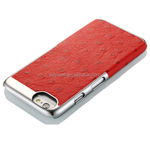 NCVM leather mobile phone case for Iphone 6, ostrich pattern