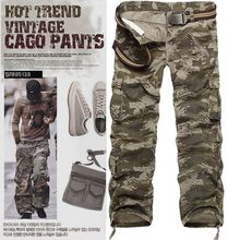 The new 7-color optional washing overalls men's large size bags of camouflage pants pants factory outlets