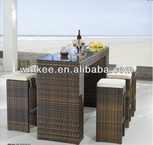 New design portable outdoor bar table and bar stool for wholesales