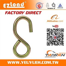 "[EZ LOAD] 1""Inch 25mm 900KGS Cr3+ Plating Large & Long Metal S Hook"