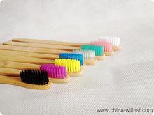 Hotel bamboo toothbrush, natural bamboo handle toothbrush, toothbrush