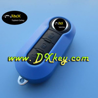 3 buttons car key shell with SIP22 folding blade for fiat smart key fiat 500 key cover