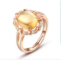 HDS14 citrine real nature Beautiful index finger rings