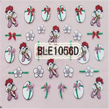 Newly born Chicken and Eggs Design Nail Art 3D Nail Stickers For Easter Day