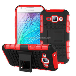 hybrid armour phone case for samsung j1 with top quality kickstand