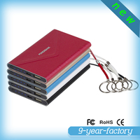 Custom envelope power bank super slim leather material 4000mah