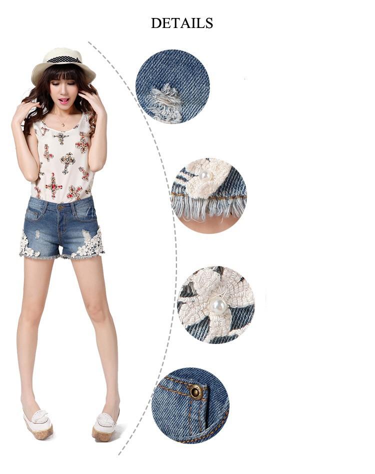 2013 new summer fashion men s short jeans denim hole free