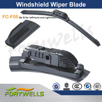 F05, Flat wiper blade bosch design with one multi-adapter fit for 5 difference arms, silicone bosch wiper blades