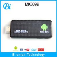 android 4.4 rk3188 quad core mini pc dvb-t2 usb dongle fire stick mk809 iv