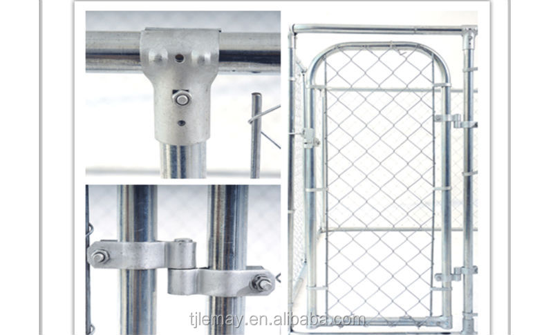 Pet products 2-in-1 large outdoor galvanized fence dog kennel