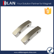 China supplier Strong Neodymium Arc Segment Magnents with Mounting for Magnet Motor Free Energy