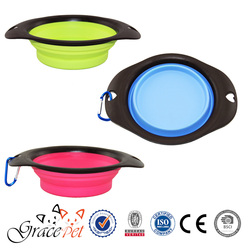 Collapsible Cat Silicone Bowl, Foldable Pet Bowl