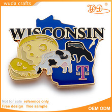 Free sample custom design soft enamel custom metal emblems