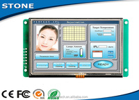 RS232/ RS485/ TTL interface 4.3 inch TFT LCD module touch screen interface control