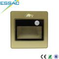 decorativo moderno mini luces de oro en alibaba china blanco cálido cob led sensor de lámpara de pared
