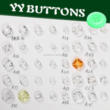 decorative crystal acrylic buttons for clothing