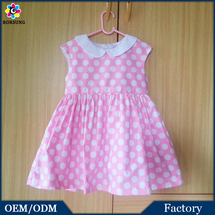Anti-shrink Silk And Cotton Simple Design Cute Girls Frock Sleeveless Summer Dresses