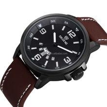 SKONE 9345 Hot Sale IP Black double calendar Watches Sport