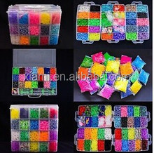 25000/20000 / 15000 /12000/9000/5400/ 4200 /3600/2400/ 600 per box elastics rainbow band bracelet loom kit