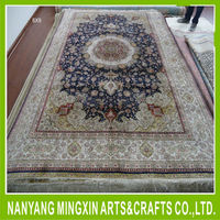 A8 Top quality tufted carpets for sleeping room handmade kashan silk rugs prayer carpet factory
