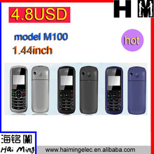 super low cost 4.8 USD 1.44 inch cell phone no camera blue screen M100