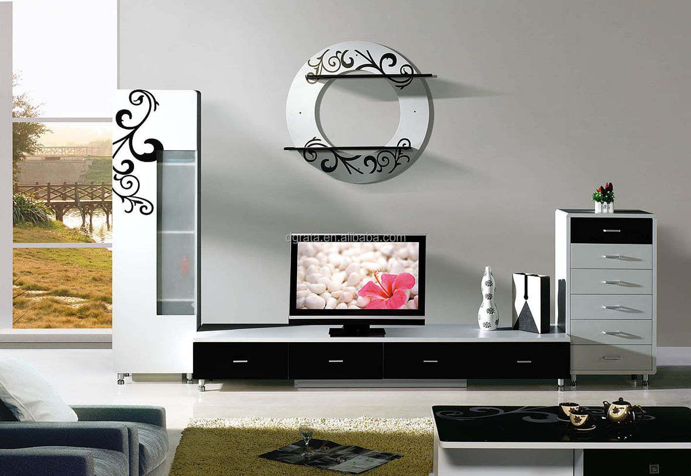alfa img showing simple tv unit design for living room