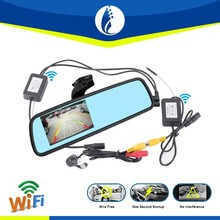 "wire free one second startup special 4.3"" TFT 1080P Wifi Wireless HD car rearview mirror camera dvr"