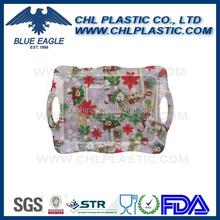 Customized printing Christmas design plastic tray