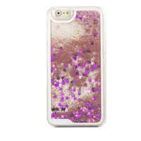 New Arrival Glitter Bling Liquid Quicksand Star Hard Back Cover Clear Phone Case for iphone 6 4.7''