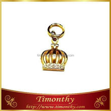 Metal alloy necklace garment charm accessories
