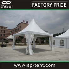 Small pagoda tent 5x5m strong aluminum frame roof top tent