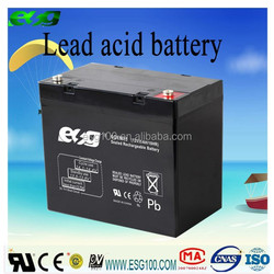 Market lowest price 12V 55AH lighting system deep cycle storage lead acid battery
