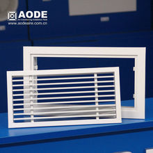Aluminium Linear Bar grille air Diffuser with removable core for HVAC / ventilation made by China manufacturer