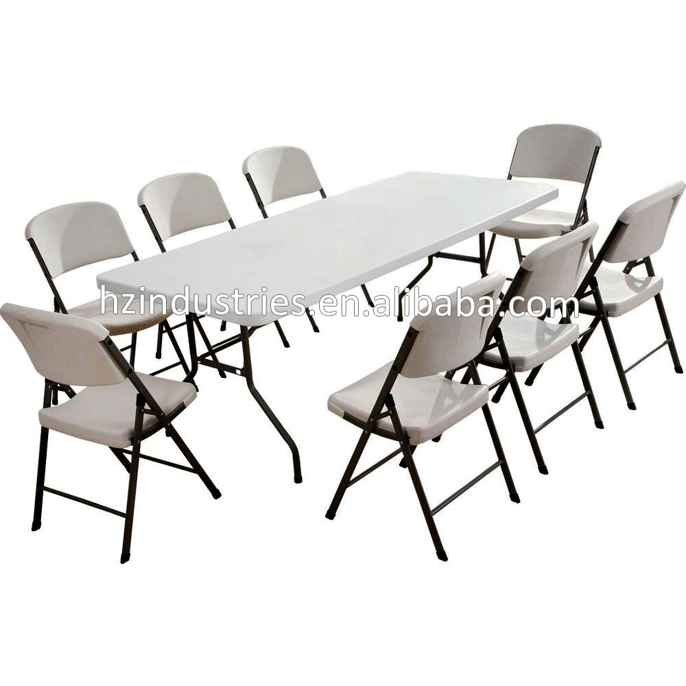 Manufacturer of folding plastic outdoor dining table for - Plastic folding dining table ...