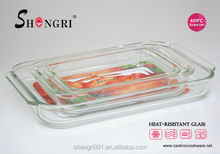 rectangular microwave oven borosilicate pyrex thermal glass baking dish/glass plate/glass dish/glass tray