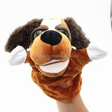 lively plush dog puppet plush pet hand puppet for sale
